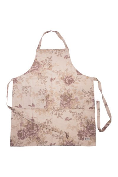 Apron country rose 70x85 cm