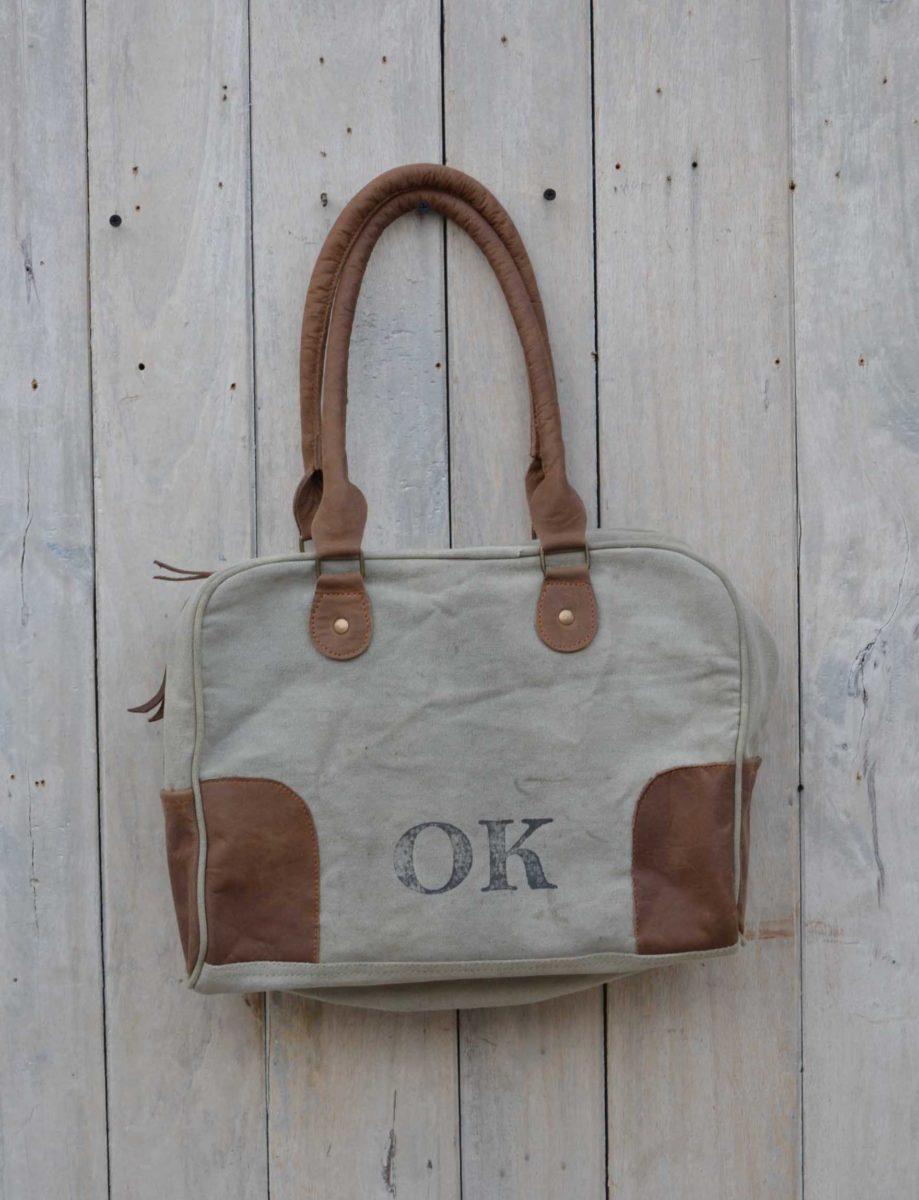 Bag OK canvas + leather