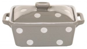 Beige butter dish with dots Isabelle Rose