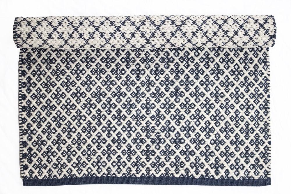Blue rug Orient 100% cotton