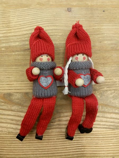 Girl & boy set of 2 - 16 cm