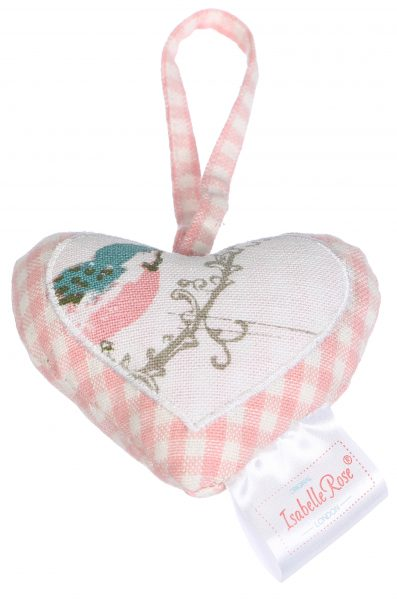Heart Pink check 10x10 cm Isabelle Rose