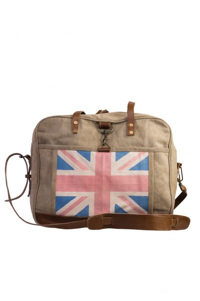 Large bag Great Britain canvas + leather