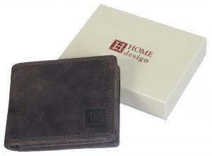 Leather wallet man style L size