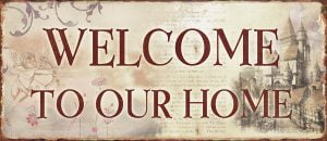 Metal sign Welcome 30x13 cm