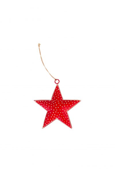 Metal star with dots