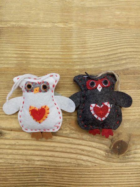 Owls set of 2 - 9 cm