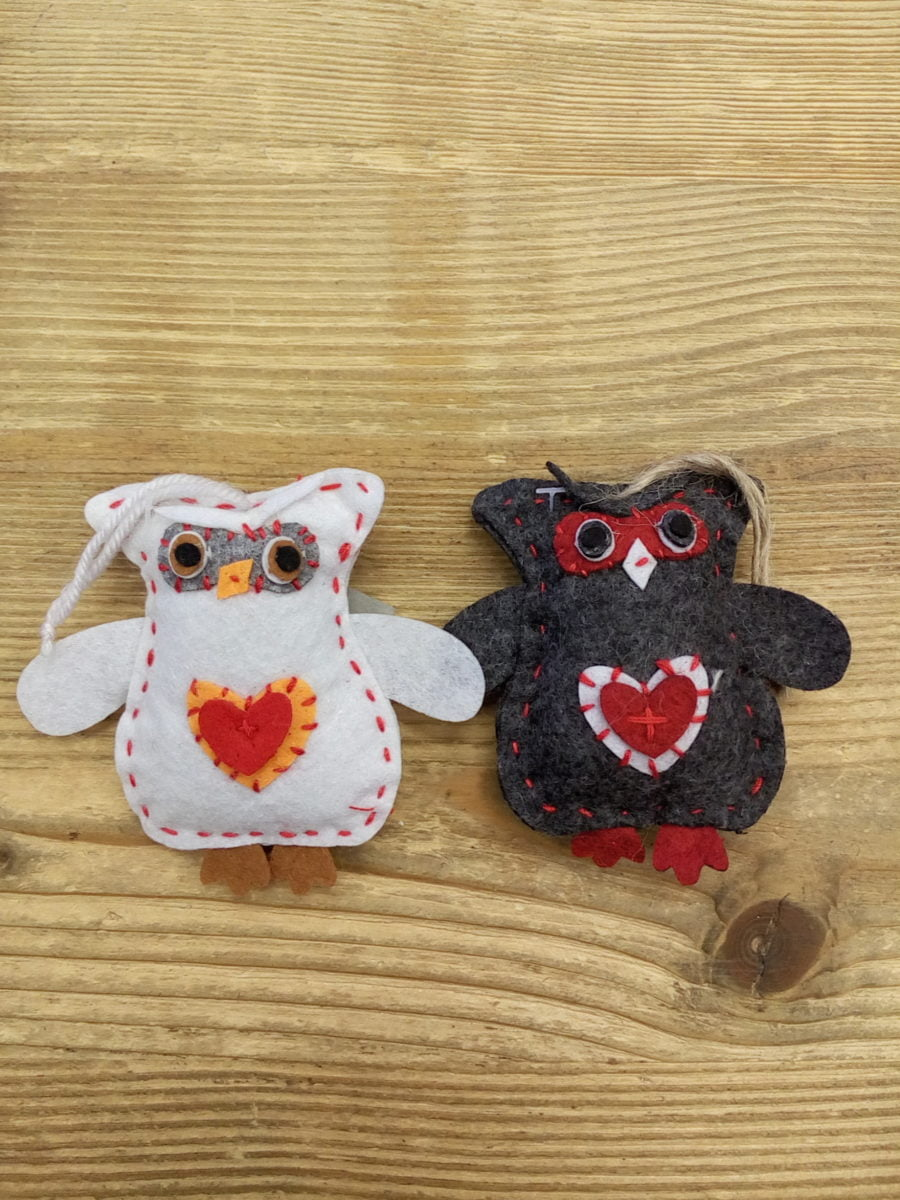 Owls set of 2 - 9 cm
