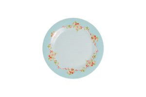 Porcelain big plate Azalea Rose decor 26