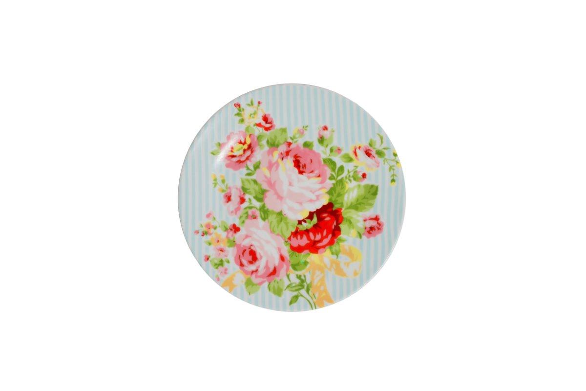 Porcelain dessert plate Azalea Big rose 19 cm