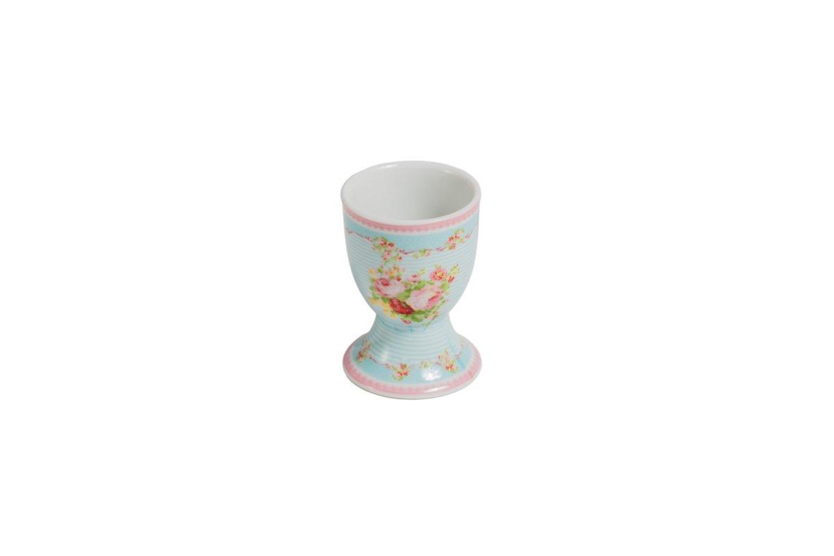 Porcelain egg holder Azalea Rose decor