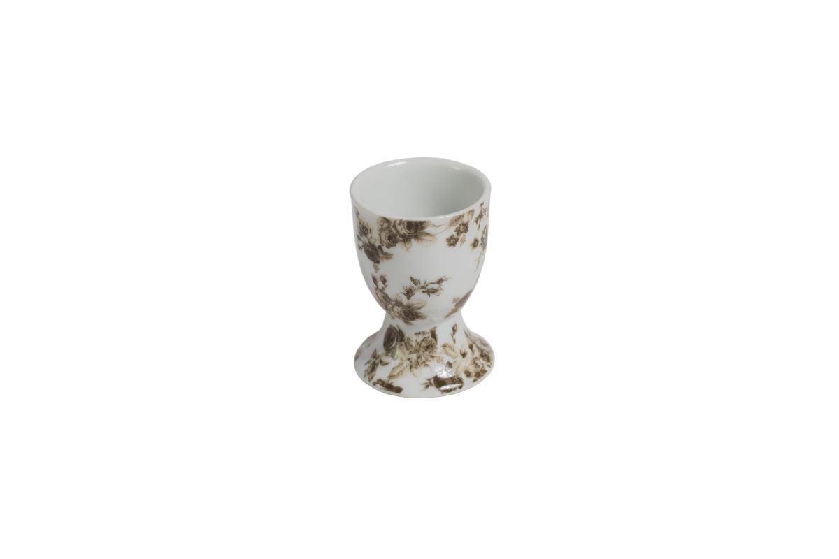 Porcelain egg holder Christina grey