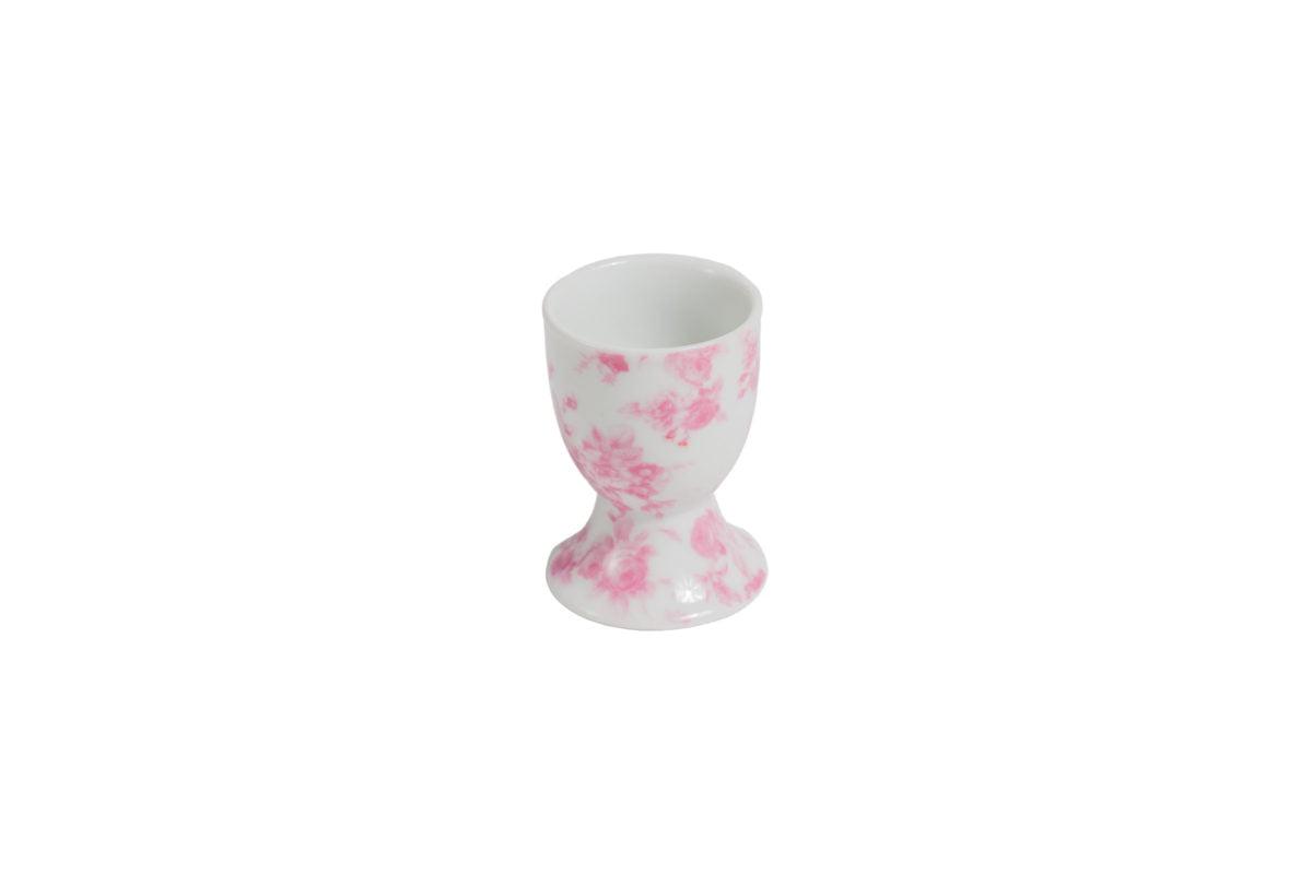 Porcelain egg holder Christina pink