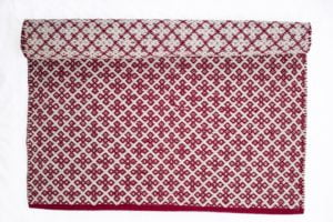 Red rug Orient 100% cotton