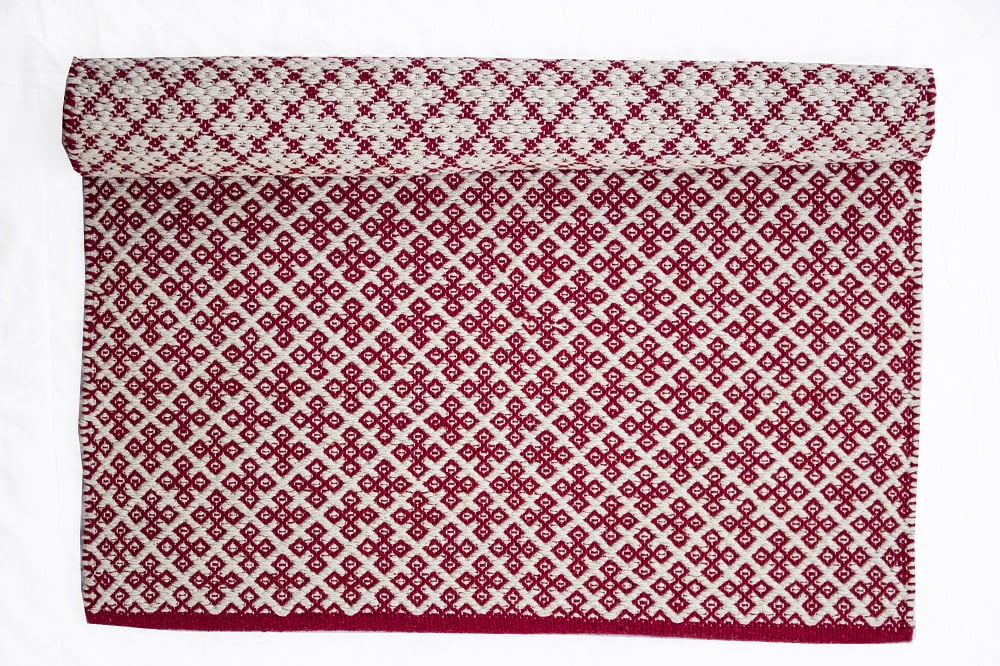 Red rug Orient 100% cotton