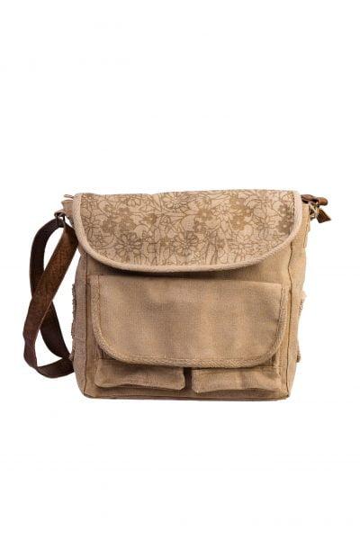 Retro bag canvas + leather