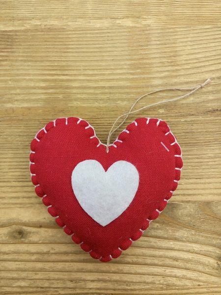 Textile heart 10 cm