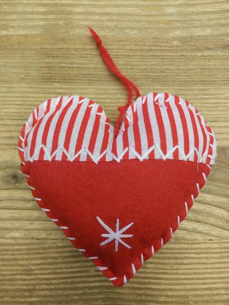Textile heart 12 cm