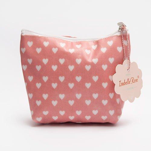 Midi make up bag Hearts washed