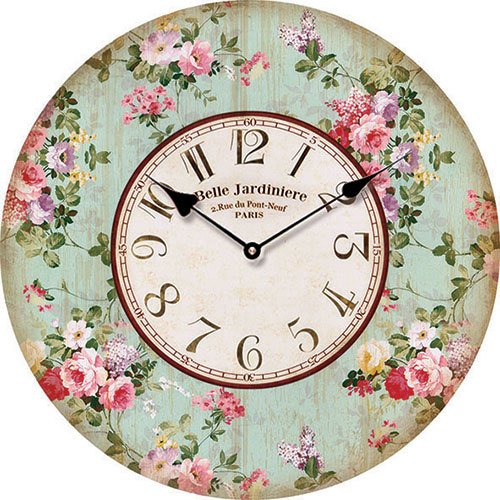 Wooden clock Belle Jardin 15 cm