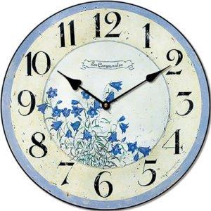 Wooden clock Blue bell 29 cm