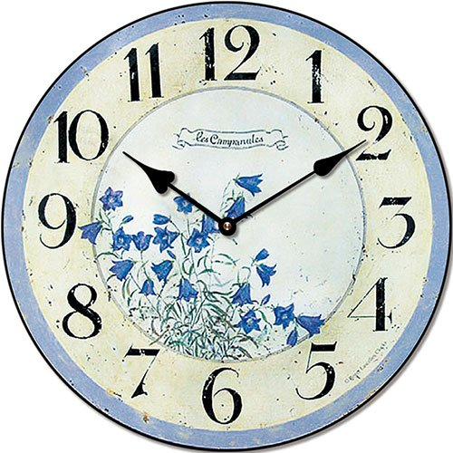 Wooden clock Blue bell 29 cm