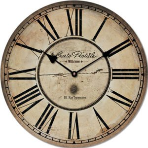 Wooden clock Carte postale 45 cm