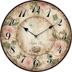 Wooden clock Isabelle Rose 29 cm