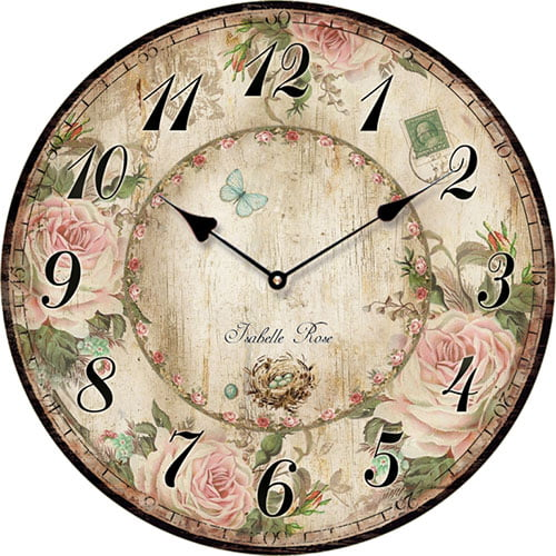 Wooden clock Isabelle Rose 29 cm