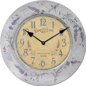 Wooden clock Parfume de Fleurs 29 cm