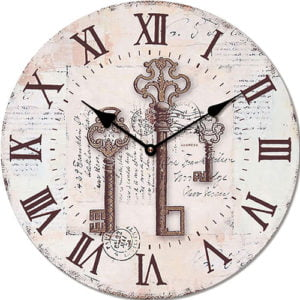 Wooden clock Rusty cutlery 29 cm