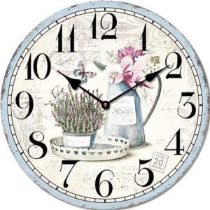 Wooden clock Summer day 29 cm