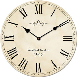 Wooden clock Westfield London 29 cm